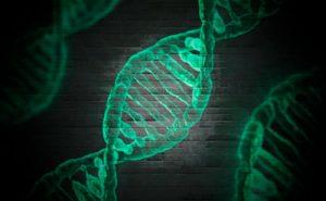 Cadena de ADN salud y bienestar